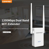 mini yönlendirici n toptan satış-COMFAST CF-WR755AC Wi-fi 1200 Mbps 802.11ac Mini Kablosuz N wifi Router Wifi Genişletici ile 2 * 3dBi antenler