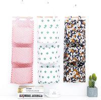 вешалка для цветов оптовых-Творческий настенный цветок в цвете Оксфорд сумка для хранения ткани общежитие дверь сзади висит многослойная сумка для хранения