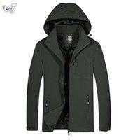 парковая куртка мужская чёрная оптовых-XIYOUNIAO Осень черный пиджак мужчины тонкие куртки мужчины случайный любитель куртка хип-хоп ветровка пальто с капюшоном молния парка