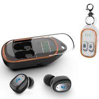 led ekran kutusu toptan satış-Mini TWS Kablosuz Bluetooth Kulaklık Spor HiFi Subwoofer Akıllı Gürültü iptal kulaklık ile LED ekran gösteren şarj kutusu