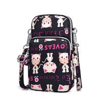 мини-кошелек оптовых-2019 New Women Cell Phone Pouch Mini Shoulder Bags Purse Crossbody Wristlet Arm Messenger Mobile Bag