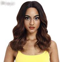 ingrosso i colori dei capelli neri rossi-Capelli lunghi parrucca sintetica ondulata lunga dei capelli della parte 20 dei capelli per le donne nere Nuovi colori parrucca rossa mista dei capelli della parrucca di Cosplay dei capelli di vendita calda