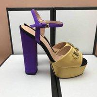 europäische stil kleid schuhe frauen großhandel-Damen Sandalen heißen Stil High Heels Designer klassischen Stil Kleid Schuhe European Station Modetrend Fabrik Direktverkauf