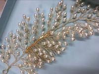 Wholesale hair comb flower pink online - Wedding Bridal Bridesmaid Combs Tiaras Silver Handmade Rhinestone Pearl Headbands Luxury Hair Accessories Headpiece Tiara Gold Jewelries