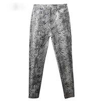 gemusterte fleecehose großhandel-Frauen-Schlangen-Druck-Bleistift-Muster-Hosen-Damen-hohe Taillen-dünne Mode-Ausdehnungs-Herbst-Winter-elastische weibliche Hosen