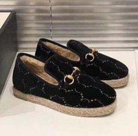 ingrosso mocassini d'epoca-Designer Mules Princetown mocassini lane delle donne scarpe firmate piani fibbia vintage autentico Espadrillas j9 calzature di lusso della moda scarpa femminile