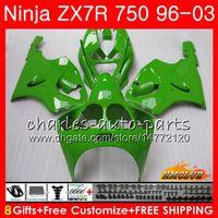 ingrosso kit corporeo zx7r-Corpo per KAWASAKI NINJA ZX-750 ZX-7R ZX750 ZX 7R 96 97 98 99 28HC.61 ZX 7 R ZX 750 ZX7R 1996 tutto semaforo verde 1997 1998 1999 2000 Kit carenatura