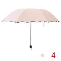 dantel ücretsiz nakliye işçiliği toptan satış-Şemsiye üç kat şemsiye Şemsiye yüksek kalite Güneş Kremi siyah plastik Katlanır şemsiye Yaratıcı kemerli güneş şemsiyeleri