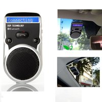 Wholesale solar powered bluetooth handsfree car kit resale online - Solar Powered Speakerphone Wireless Bluetooth Handsfree LCD display Car Kit For Mobile Phone Hands Free Car For Iphone Android