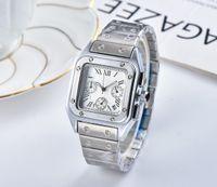 господа часы оптовых-2019 A3A новые мужские часы джентльмены роскошные часы womeN модные часы точность стальной квадратный циферблат женщин Relogio Montre мужские часы