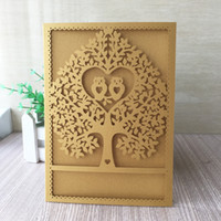 Wholesale owl party lights for sale - Group buy 35PCS Beautiful Design Wedding Invitations Cards With Owl In Love Wedding Grand Event Birthday Invitations Supplies