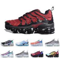 Wholesale best shoes for men resale online - 2019 TN PLUS Running Shoes For Men Women Black Speed Red White Anthracite Ultra White Black Best Designer Sneakers
