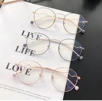 a9d70613fe01 2019 Sweet Colorful Eyeglasses Frame With Clear Plain Lens Round Metal  Decorative Plain Eyewear Glass Unisex Fashion Optical Glasses Windpro