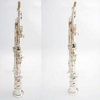 kaliteli müzik aletleri toptan satış-Yüksek Kaliteli Japonya YANAGISAWA S991 B düz Soprano Saksafon Müzik Aletleri Sax Pirinç Gümüş kaplama Ile Kılıf Profesyonel