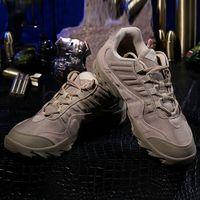 bottes en plein air kaki achat en gros de-ESDY Tactical Boots Desert Combat Outdoor Tactical Chaussures Noir Khaki Randonnée Chaussures de Voyage En Cuir Bateaux Cheville Unisexe Bottes AAA1833