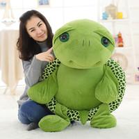 Wholesale big eye soft toys for sale - Group buy 80cm Large Plush Toy Lovely Big Eyes Tortoise Soft Stuffed Animal Cushion Soft Small Sea Turtles Dolls for Kids Gift