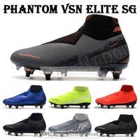 Wholesale pro sports football for sale - Group buy GIFT BAG Mens High Ankle Football Boots Victory Pack Phantom VSN Elite SG Pro Anti Clog Soccer Shoes EA Sports Phantom Vision Soccer Cleats