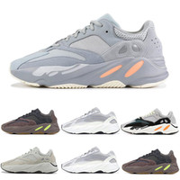 quality design af588 c54a1 Adidas yeezy 700 boost Migliore Qualità Kanye West Wave Runner 700 V2  Statico Mauve Solido Grigio Sport Scarpe Da Corsa Uomo Donna Sport Sneakers  Scarpe ...