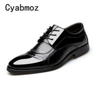 elbise ayakkabı asansörü toptan satış-Erkekler Düğün Yüksekliği Artış Deri Rahat Ayakkabılar Erkekler Moda Erkek Asansör Elbise Ayakkabı 6 CM Rahat Genç Günlük ayakkabı