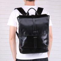 i̇sviçreli seyahat çantaları toptan satış-genç erkek tasarımcı mochila swiss geometrik için 2020 gerçek erkekler Deri Sırt Çantası Gençlik Seyahat Çantası Okul okul çantası kaliteli iş