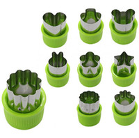 Wholesale cookie cutter stamps resale online - 9 Vegetable cutter shapes Set fruit and Cookie Stamps Mold cookie cutter Decorative Food for kids baking