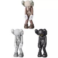 Wholesale doll toys korea resale online - 2019 Hot Doll design modern art CM KAWS mini smlll lie companion toy custom vinyl pvc Graffiti art toy kaws figure statue gift Luminous