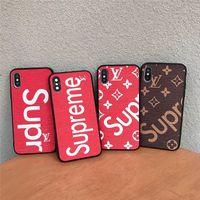 skins iphone achat en gros de-Cas de concepteur de luxe pour téléphone IPhone X XS Max XR modèle de peau de la mode cas pour IPhone X 8 8P 7 7P 6 6s Plus couverture arrière