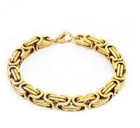 Wholesale vintage sterling chain for sale - Group buy Men s bracelet European and American men s Vintage Jewelry spot K Gold Bracelet men s titanium steel bracelet WL1057