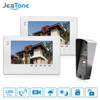 segurança em casa com fio lcd venda por atacado-JeaTone Porta Com Fio Campainha Intercom 7