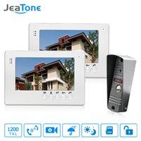 lcd verdrahtete häusliche sicherheit großhandel-JeaTone Wired Türsprechanlage Türklingel 7