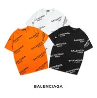 ingrosso grandi camicie collared-T-shirt donna estate BALENCIAGA moda manica corta puro colore allentato codice grande colletto tondo Top t shirt donna