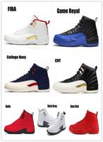 multi jogos grátis venda por atacado-12s Jogo Royal FIBA Táxi de basquete reverso calça 12 Gym Vôo internacional vermelho CLASSE DE 2003 Michigan UNC Bulls Sneakers Shippment grátis
