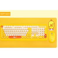 filles de clavier achat en gros de-fille anime dessin animé souris pour aptop home office cadeaux souris Optical Wireless Keyboard et récepteur USB Kit pour PC