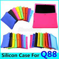 Wholesale dual camera pc tablet case for sale - Group buy Drop resistance Anti Dust Colorful Silicon Case Protective Cover For Inch Q88 A33 A23 A13 Q8 Dual Camera Tablet PC Cases MID