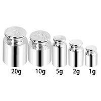 Wholesale jewelry for grams for sale - Group buy 5Pcs set g g g g g High Presision Chrome Plating Gram Calibration Weight Set Weights For Digital Scale Balance