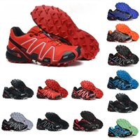 Wholesale cool camp tables resale online - Speed Cross CS Trail Running Shoes Off Road Mens Cool Grey Triple Black Red Trainers s Men Designer Sports Sneakers Size