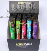 shisha zamanı nargile kalemleri toptan satış-E ShiSha Nargile Kalem Tek Kullanımlık Elektronik Sigara Boru Kalem Puro Meyve Suyu E Çiğ Sopa Shisha Zaman 500 Puflar Renkli 35 Tatlar