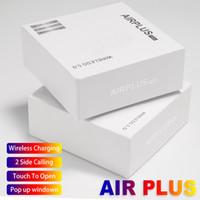 kulaklıklar cep telefonları toptan satış-Bluetooth Kulaklık Airplus Tws Kulakiçi BT5.0 Dokunmatik Kontrol Kulaklık Akıllı Cep Telefonları için Kablosuz Şarj I9S I7S I12 I10 I18 TWS