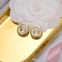 mexikanische ohrringe großhandel-Mexican Hoop 18 karat Goldene Ohrring Frauen Design Luxus Kleine Kupfer Ce Ohrstecker Hohe Qualität Valentinstag Geschenk Heißer Schmuck