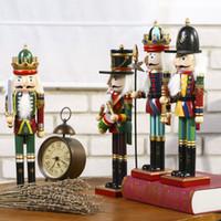 fantoches à venda venda por atacado-30 centímetros de madeira soldado boneca UU presente Puppet Bar ornamento Creative Home Natal dos desenhos animados Moda Hot Sale 15jp