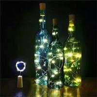 şapka şişeleri mantarları toptan satış-2 M 20-LED Şişe Mantarları Işık Dize Garland Cam El Sanatları Süslemeleri Işıkları Lamba Ev için Yeni Yıl Noel Süslemeleri