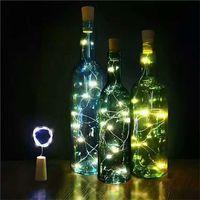 handwerk flaschen korken großhandel-2 Mt 20-LED Flaschenkorken Lichterkette Girlande Glas Handwerk Schmücken Lichter Lampe Neujahr Weihnachtsschmuck für Zuhause