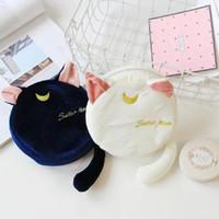 Wholesale moon cat toys resale online - 2color Anime Sailor Moon Cat Cartoon Soft Stuffed Animals Lovely Kawaii Fashion Cosmetic Bag Zipper Handbag Purse Toy Doll