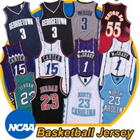23 basketball groihandel-Wilkins 55 Mutombo North Carolina Tar Heels 23 Michael Jersey Allen Iverson 3 Georgetown Hoyas Basketball Jerseys