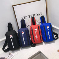 çift çanta toptan satış-Şampiyonu Mektup Messenger Çanta tasarımcı lüks Omuz Sırt Çantası Oxford kumaş Çift Fermuar Fannypack Bel Çantaları Spor Seyahat çanta B3292