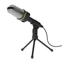 ingrosso microfono per il karaoke del computer portatile-Microfono professionale a condensatore USB Microfoni audio da studio Registrazione di treppiede per computer desktop KTV Karaoke Laptop PC