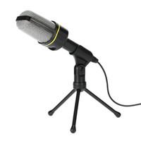 condensador de grabación al por mayor-Profesional Condensador USB Micrófono de estudio Micrófonos de sonido Trípode de grabación para KTV Karaoke Laptop PC PC de escritorio