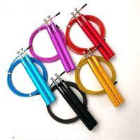 Wholesale metal jump rope resale online - Adult Jump Ropes Load Metal Rope Skipping EDC Physical Education Supplies Bearing Anti Wear Red Purple Creative xj C1