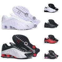 envío gratis nz al por mayor-Nike Air Shox OG R4 Envío gratis Zapatos para correr OZ NZ 301 ENTREGA Triple Negro Blanco Azul Plata Rojo Mujer Entrenador para hombre Ourdoor Athletic Zapatillas deportivas 36-46