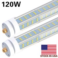 Wholesale fluorescent lights covers for sale - Group buy 8 FT LED Tube Light W K clear cover Single Pin FA8 Base Double side rows V shaped T8 T10 T12 LED Fluorescent Bulbs